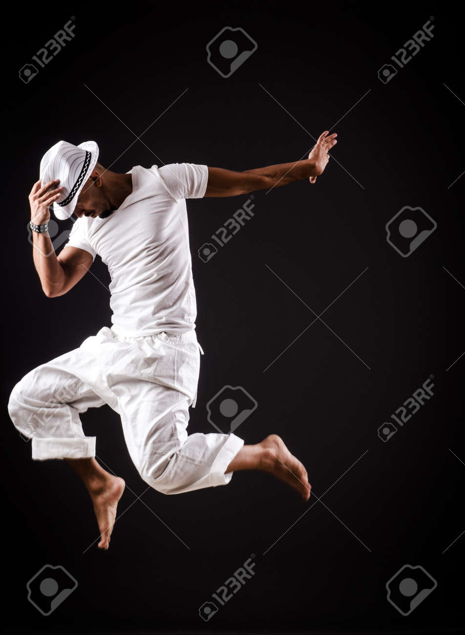 Dancer dancing dances in white clothing Stock Photo - 19292425