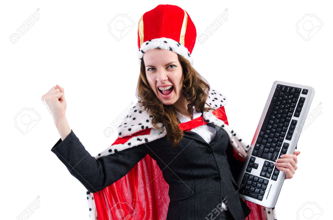Woman queen in funny concept Stock Photo - 19292463
