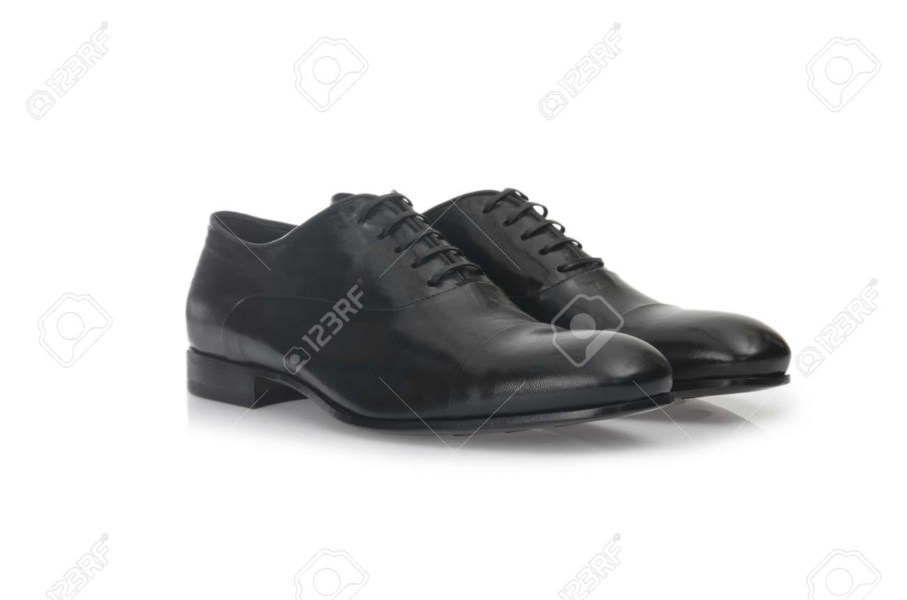 Fashion concept with male shoes on white Stock Photo - 19036945