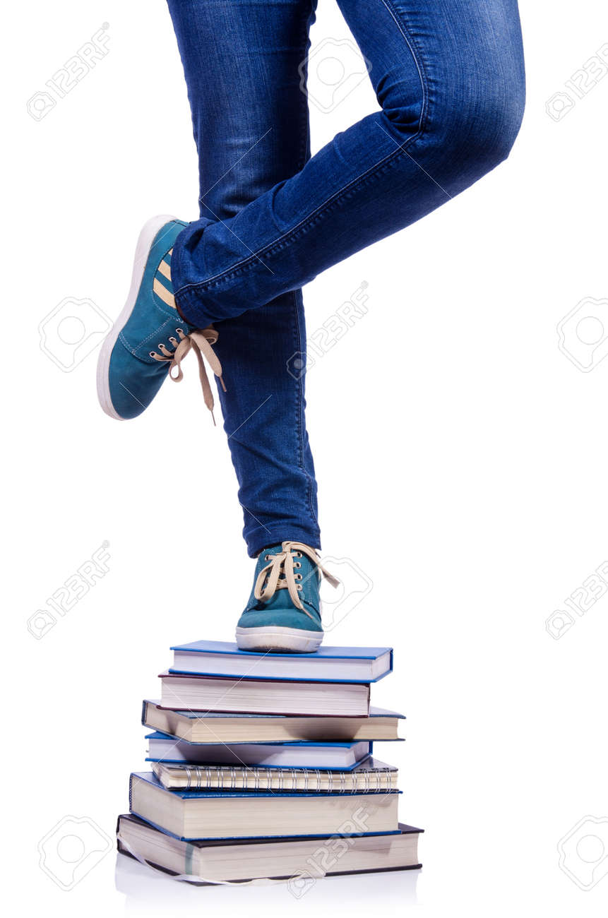 Climbing the steps of knowledge - education concept Stock Photo - 19057680