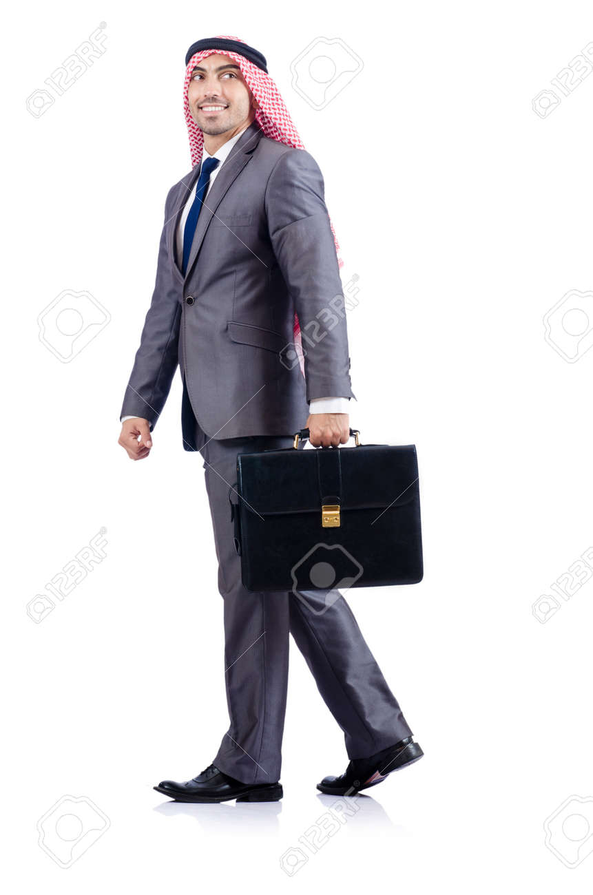 Arab businessman isolated on the white Stock Photo - 19142532