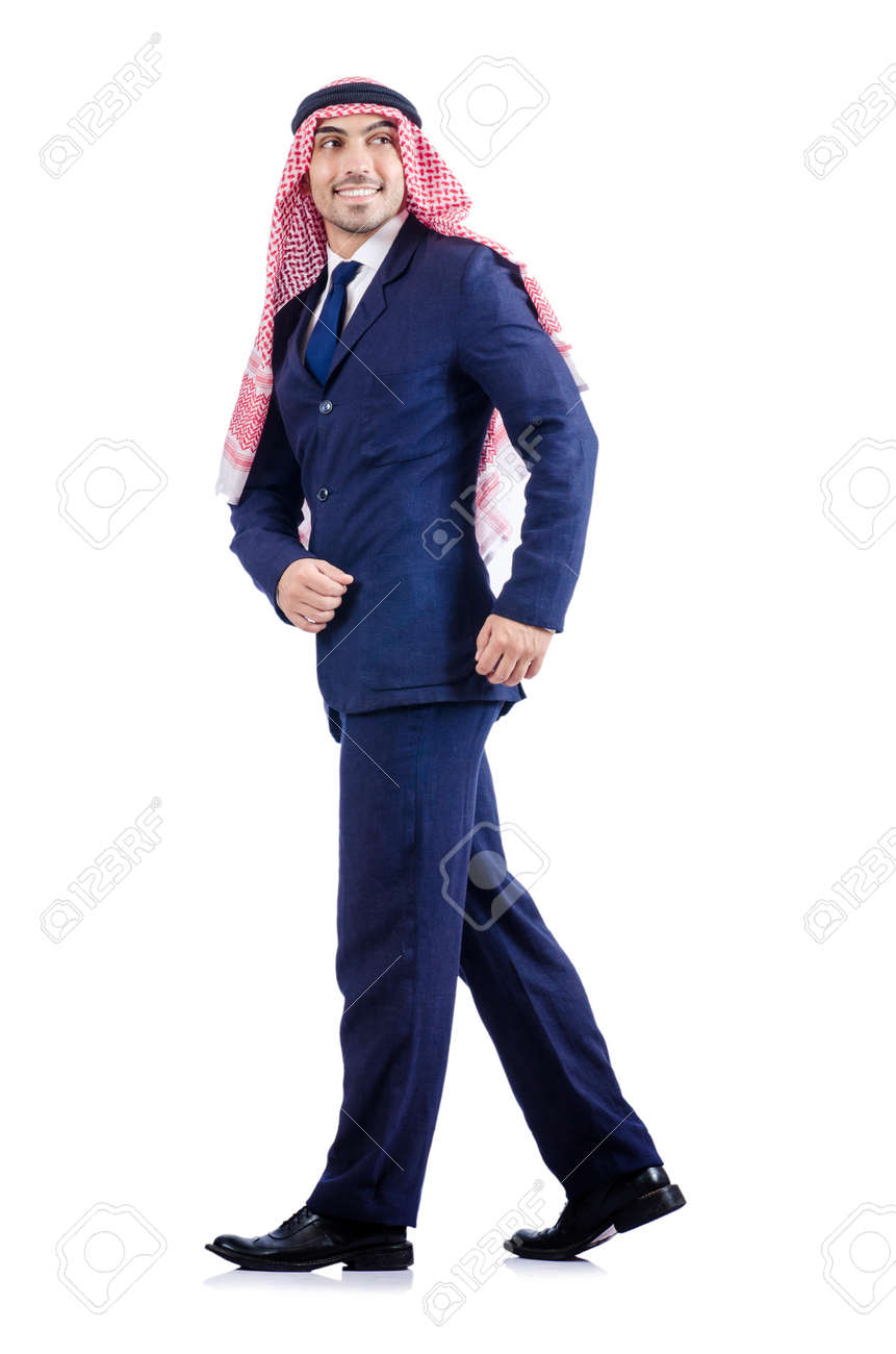 Arab businessman isolated on the white Stock Photo - 19142552