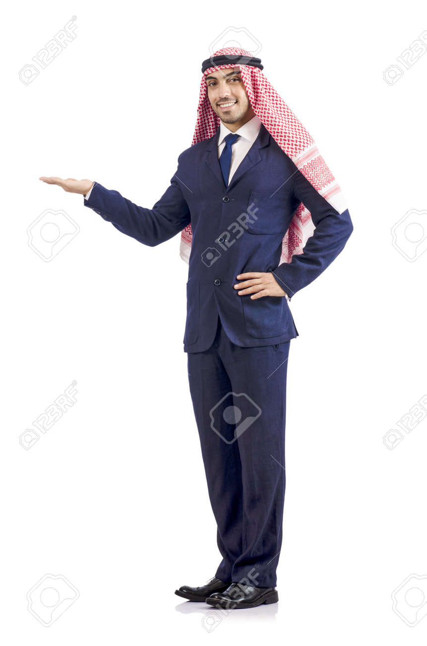 Arab businessman isolated on white Stock Photo - 19142537