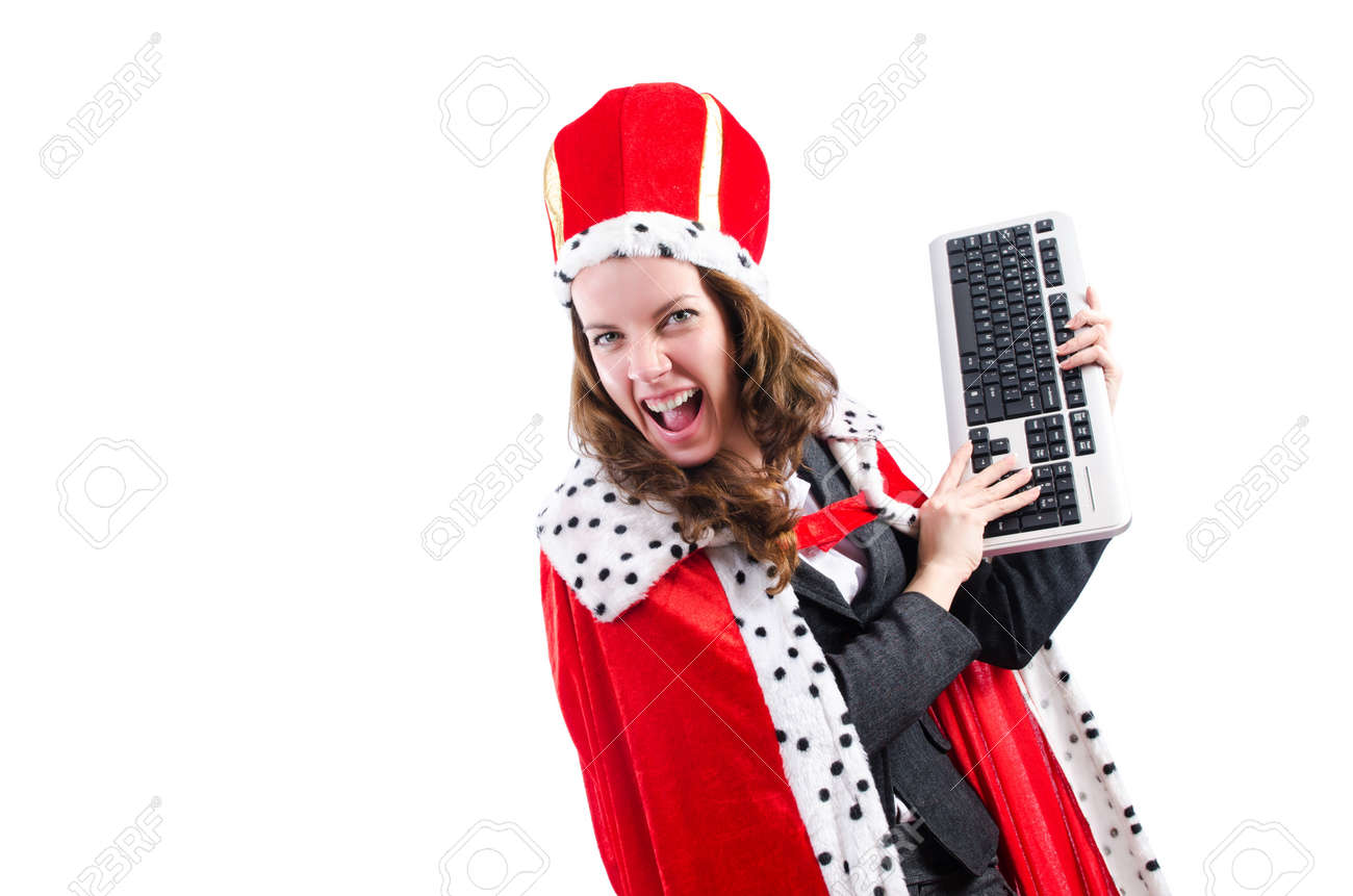 Woman queen in funny concept Stock Photo - 19323490