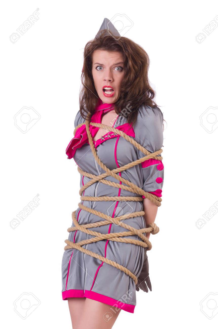 Связанная веревкой девушка 20 фотография