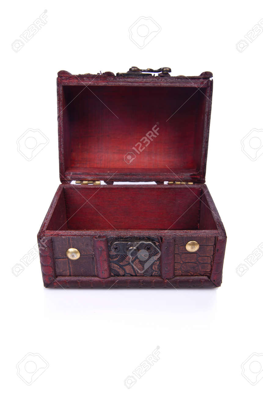 Old chest isolated on the white background Stock Photo - 19373586