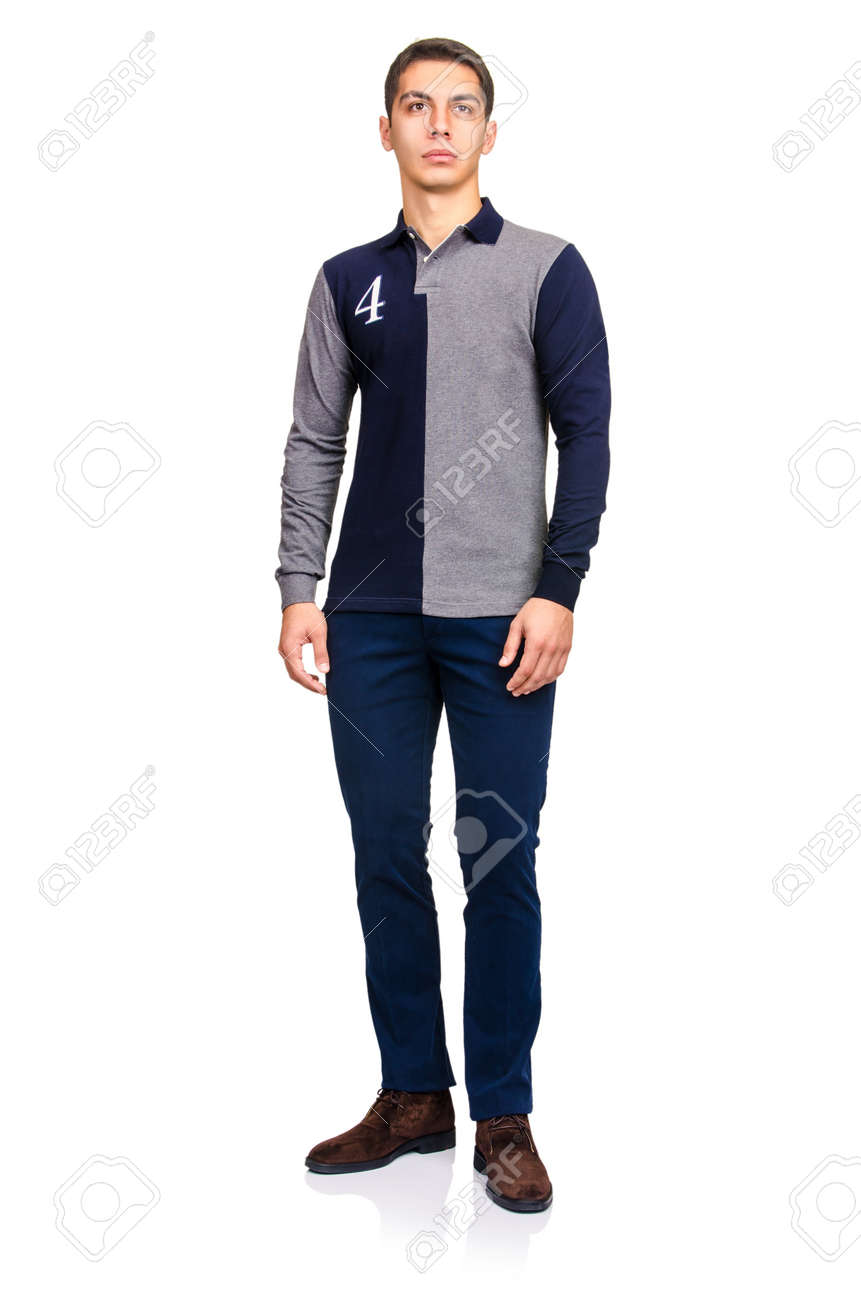 Man in fashion look isolated on white Stock Photo - 19673135