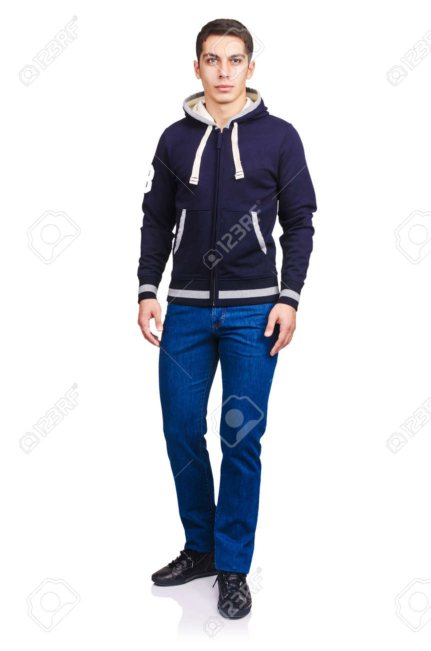 Man in fashion look isolated on white Stock Photo - 22311385