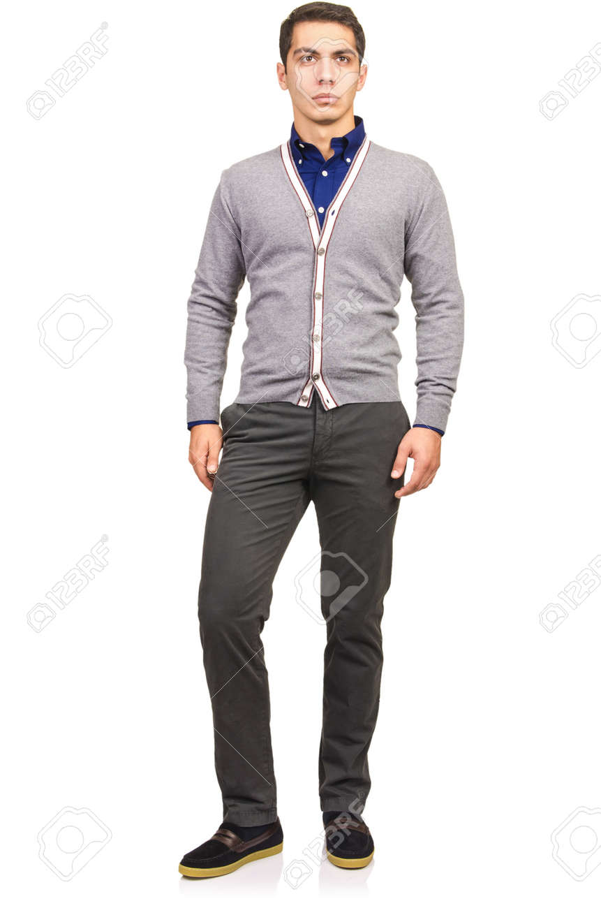 Man in fashion look isolated on white Stock Photo - 19673137