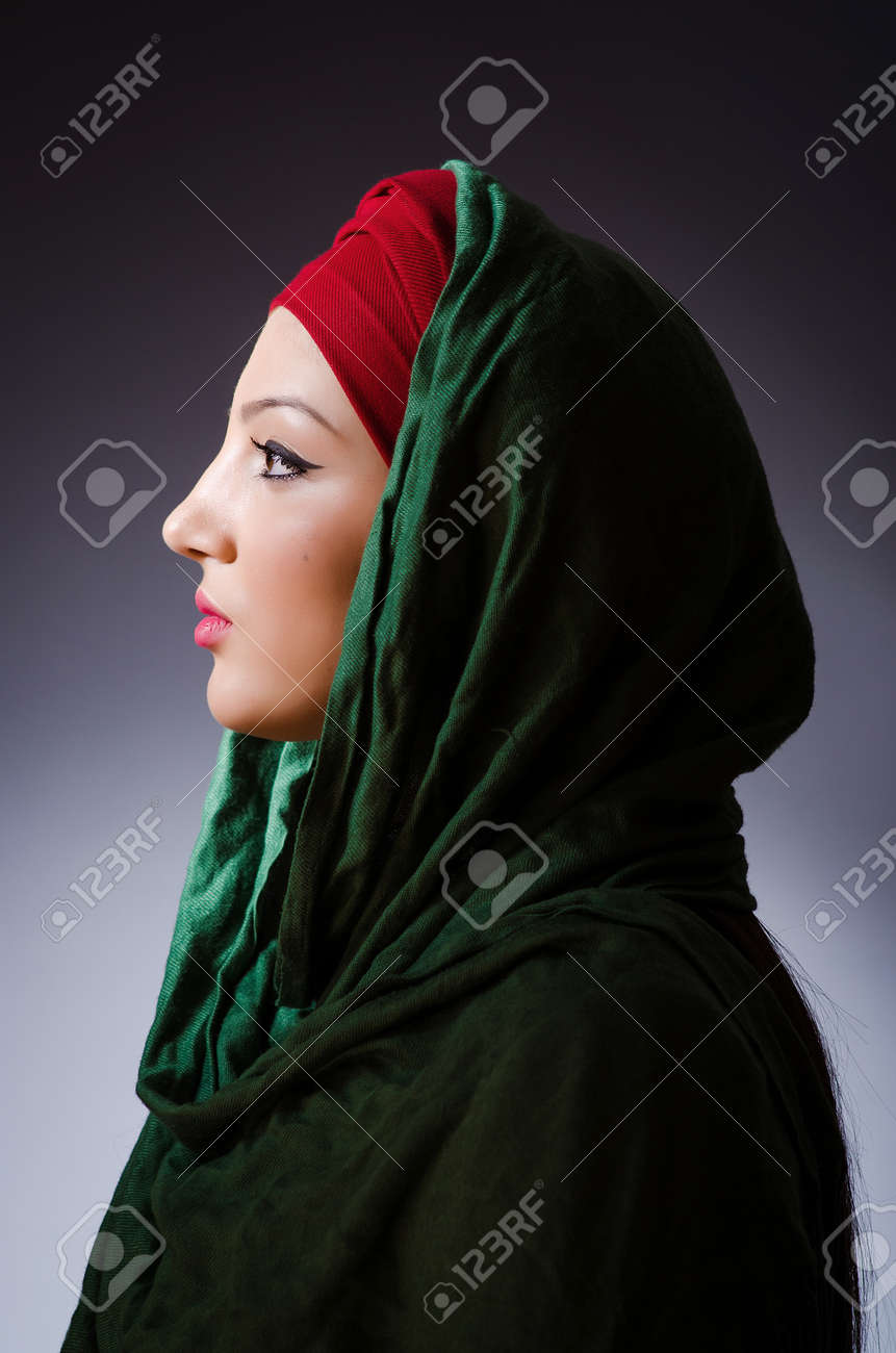 Muslim woman with headscarf in fashion concept Stock Photo - 19675180