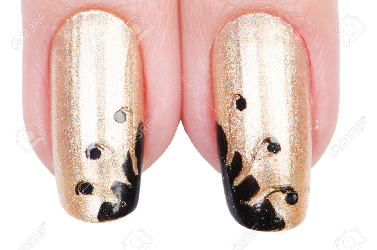 Nail art concept with hands on white Stock Photo - 19654199