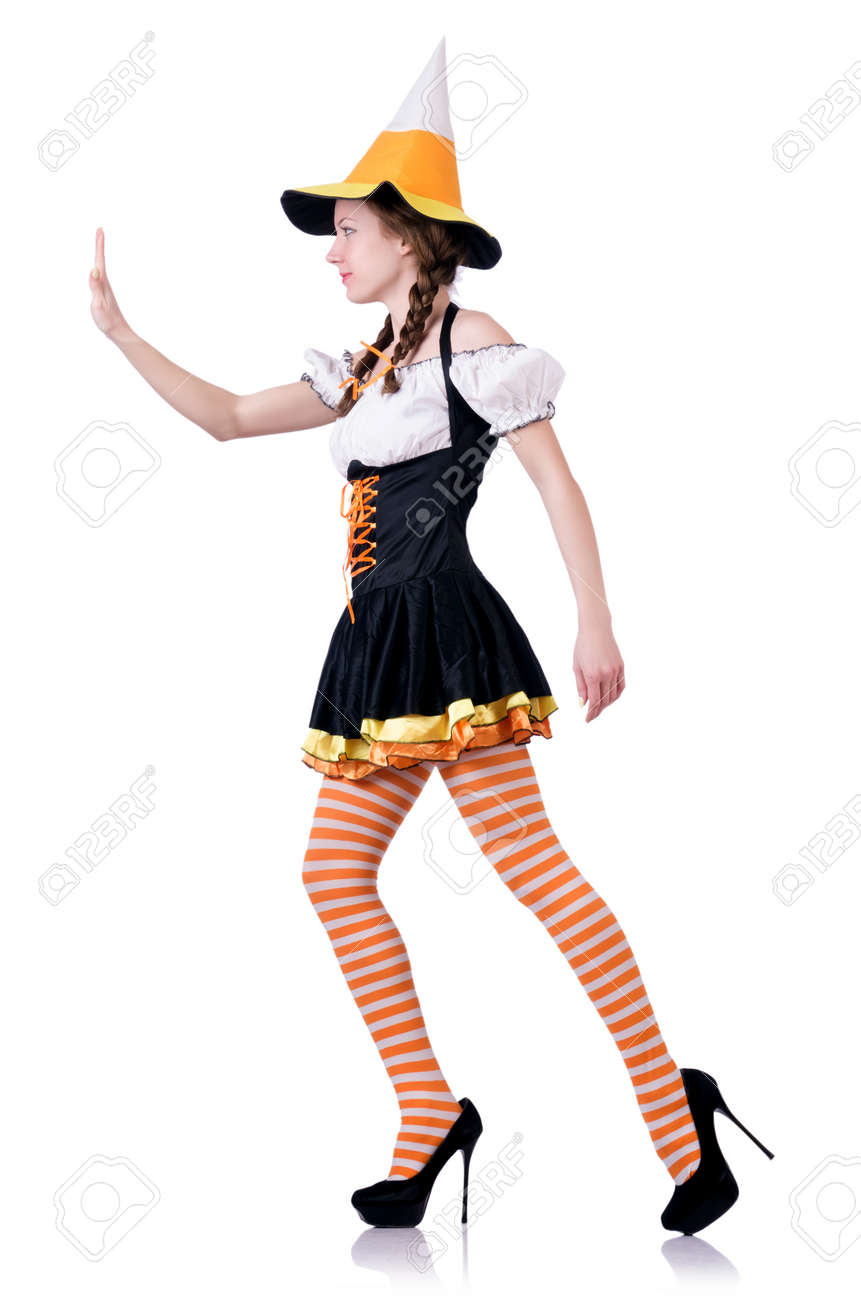 German girl in traditional festival clothing Stock Photo - 20095476