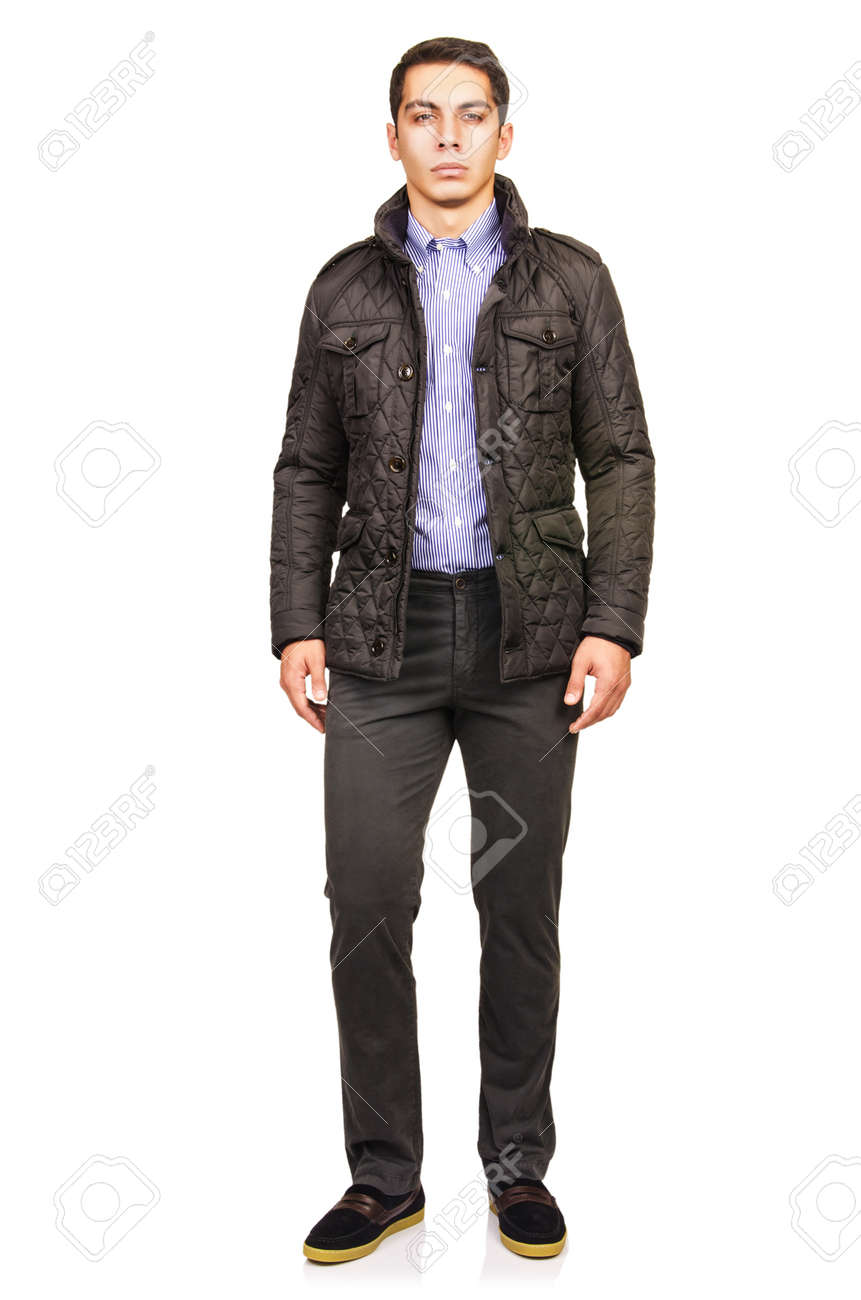 Man in fashion look isolated on white Stock Photo - 20258799