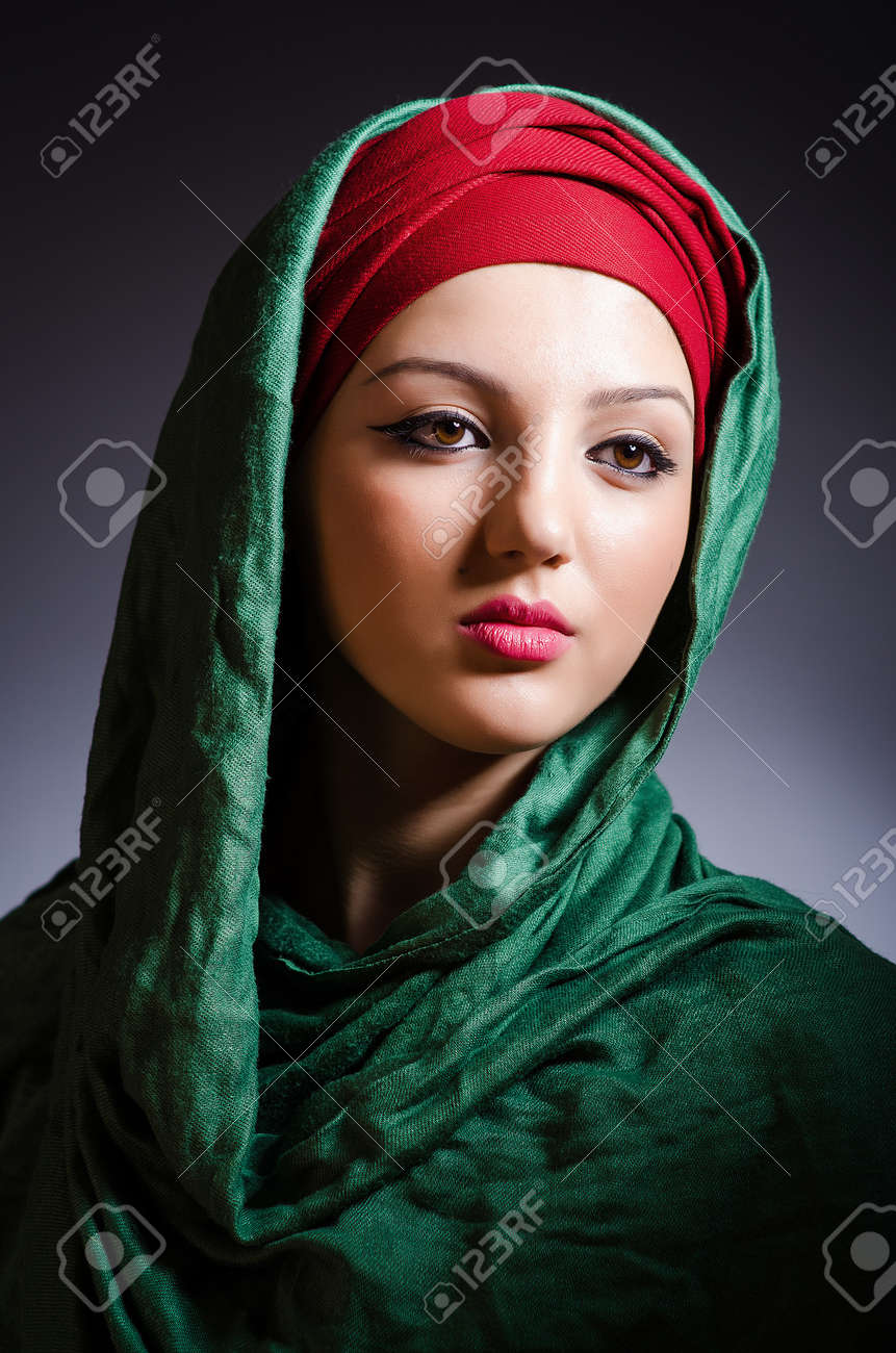 Muslim woman with headscarf in fashion concept Stock Photo - 20258809