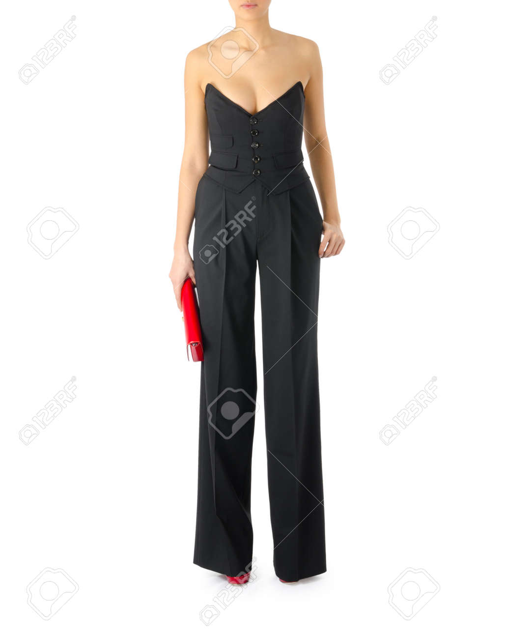 Woman in fashion concept on white Stock Photo - 20838801