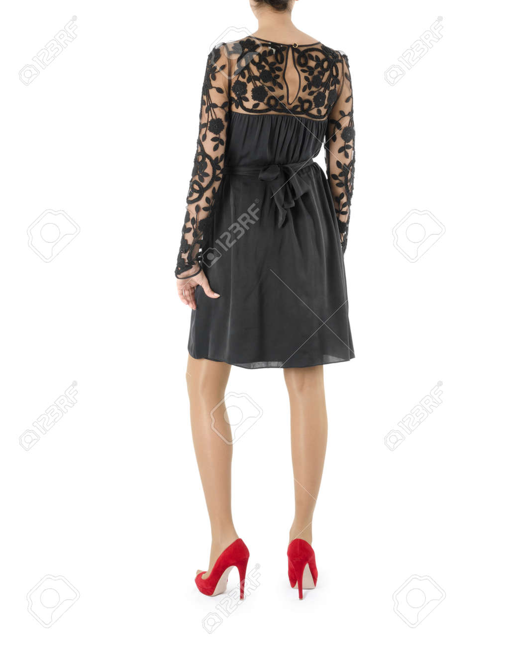 Woman in fashion dress concept on white Stock Photo - 20838803