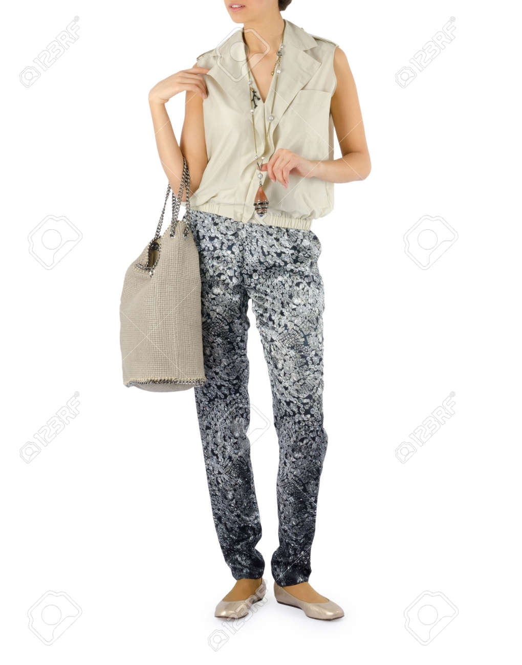 Woman in fashion concept on white Stock Photo - 20838804