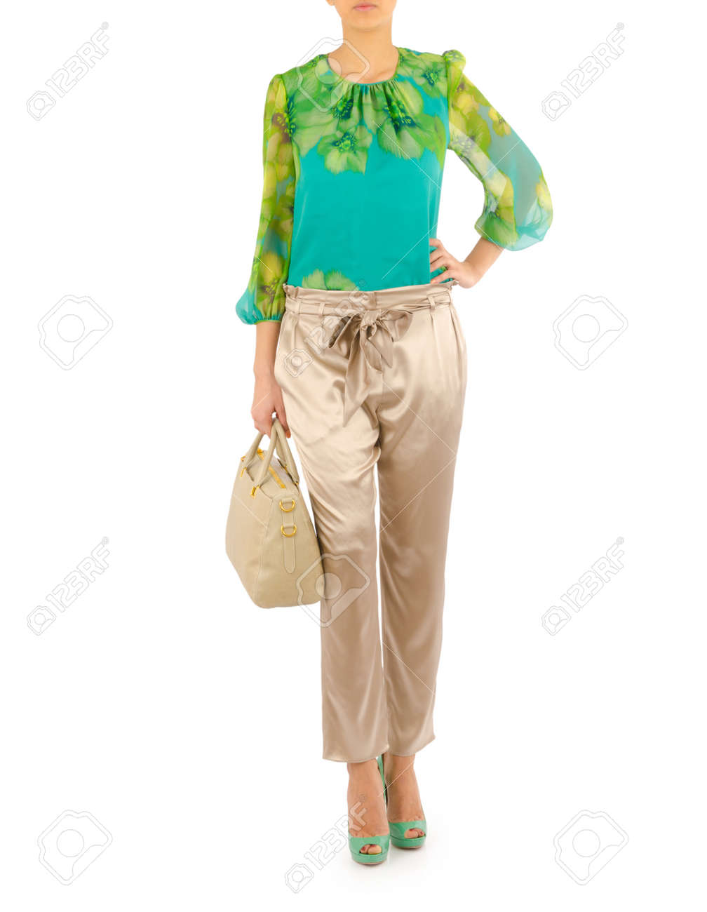 Woman in fashion concept on white Stock Photo - 20838848