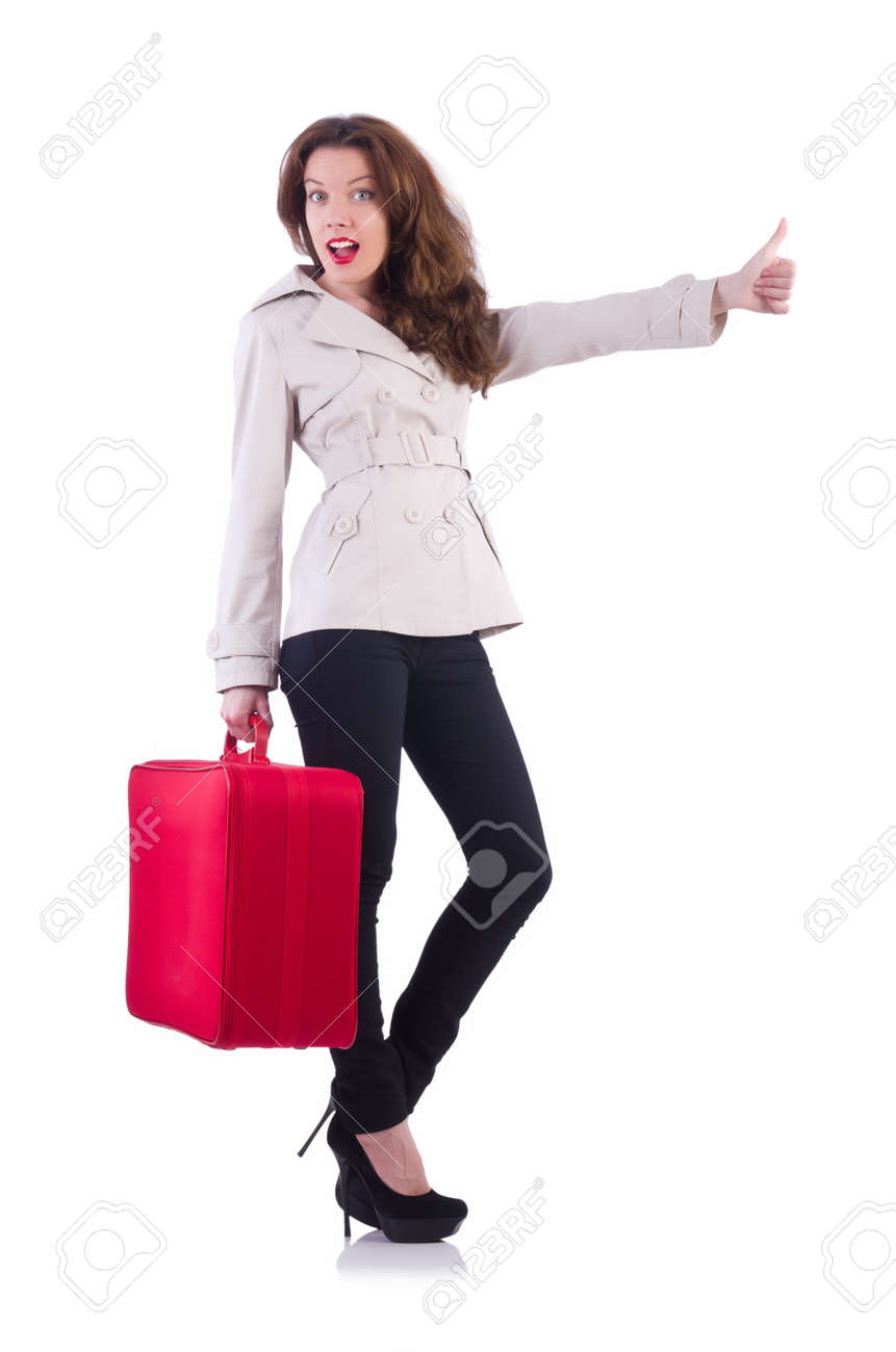 Young woman preparing for vacation Stock Photo - 21029723