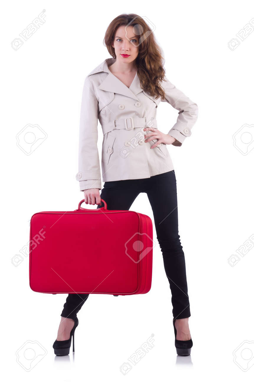 Young woman preparing for vacation Stock Photo - 21326327