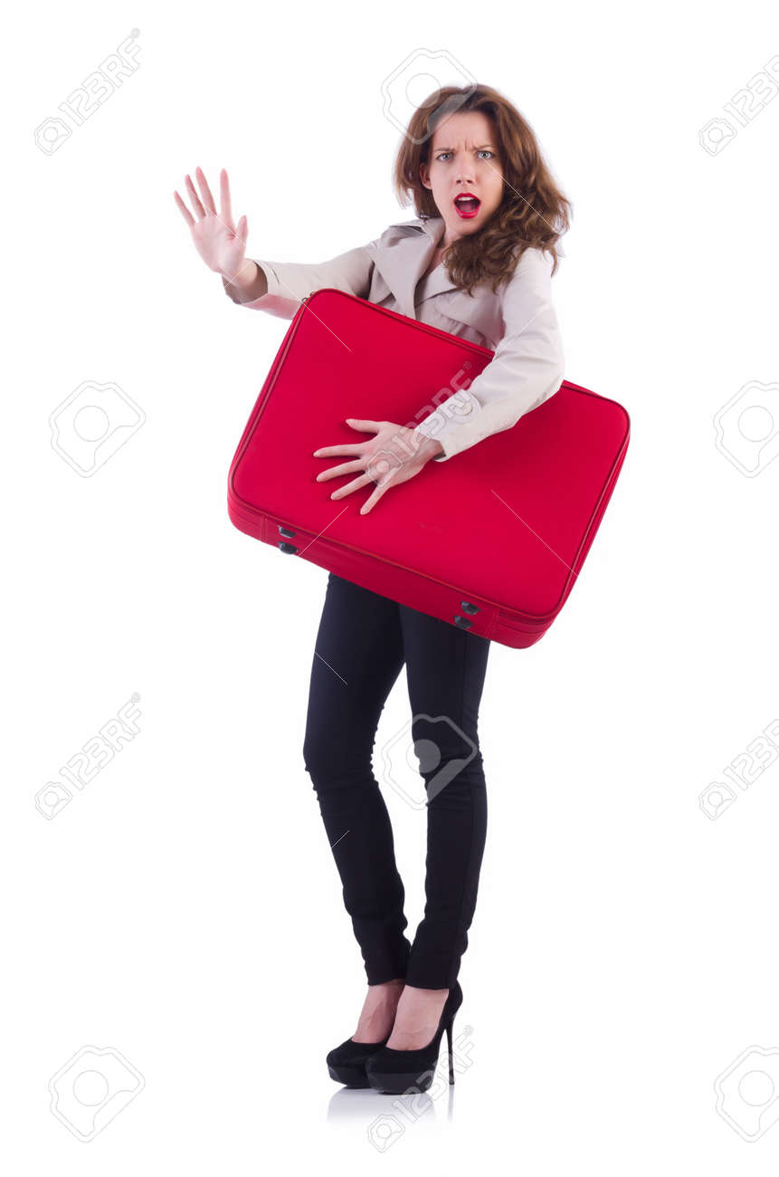 Young woman preparing for vacation Stock Photo - 21515989