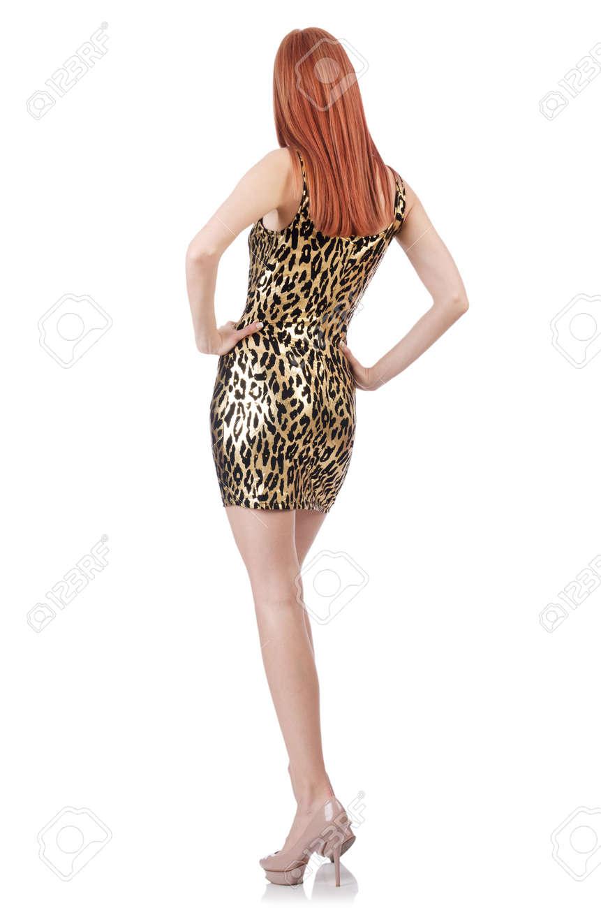 Model wearing fashionable clothing on white Stock Photo - 21379942