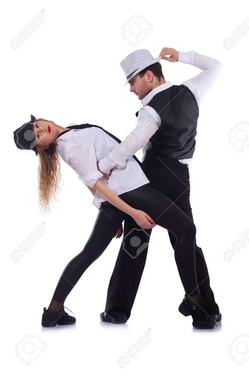 Pair of dancers dancing modern dances Stock Photo - 22128444