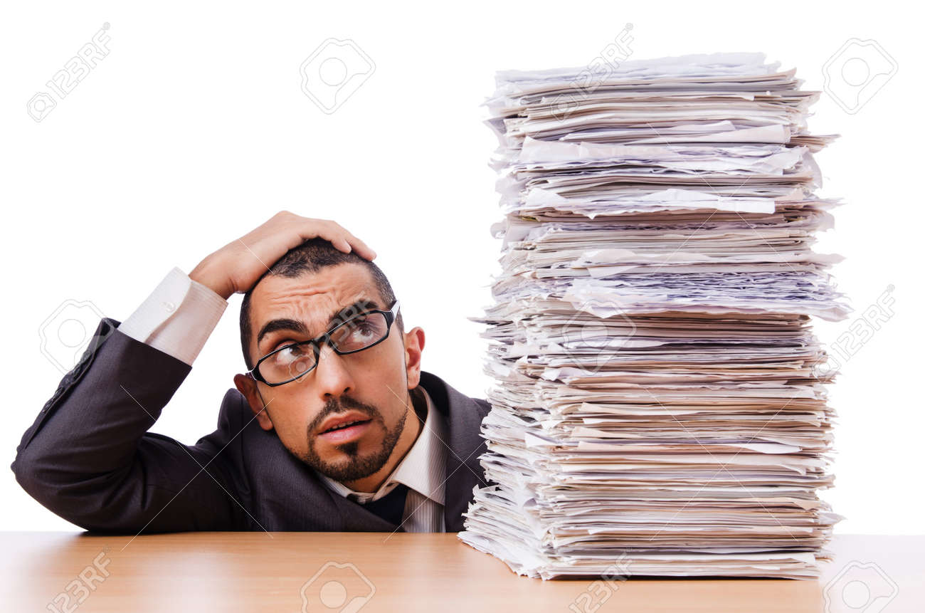 man too much work to do stock photo picture and royalty man too much work to do stock photo 22128337