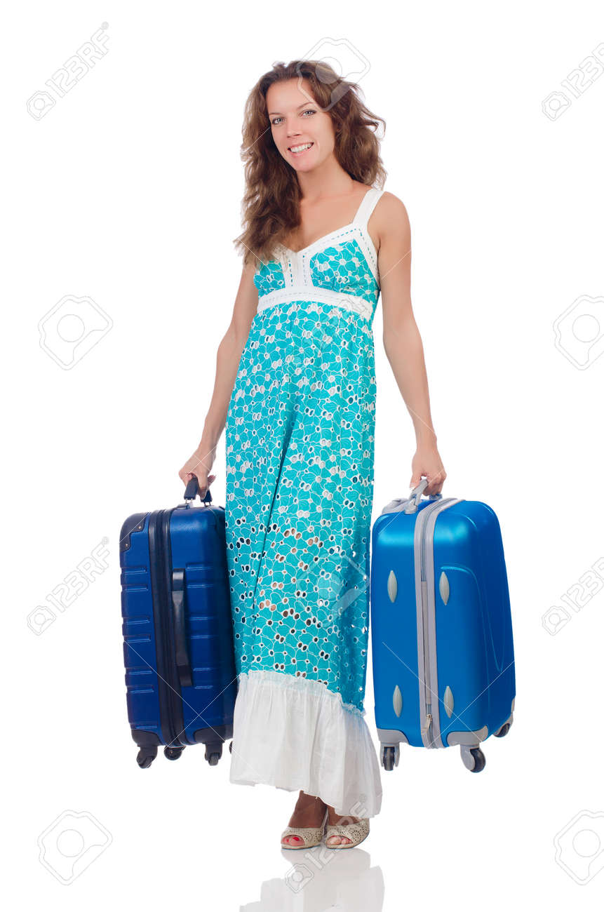 Woman preparing for travel on summer vacation Stock Photo - 22459289