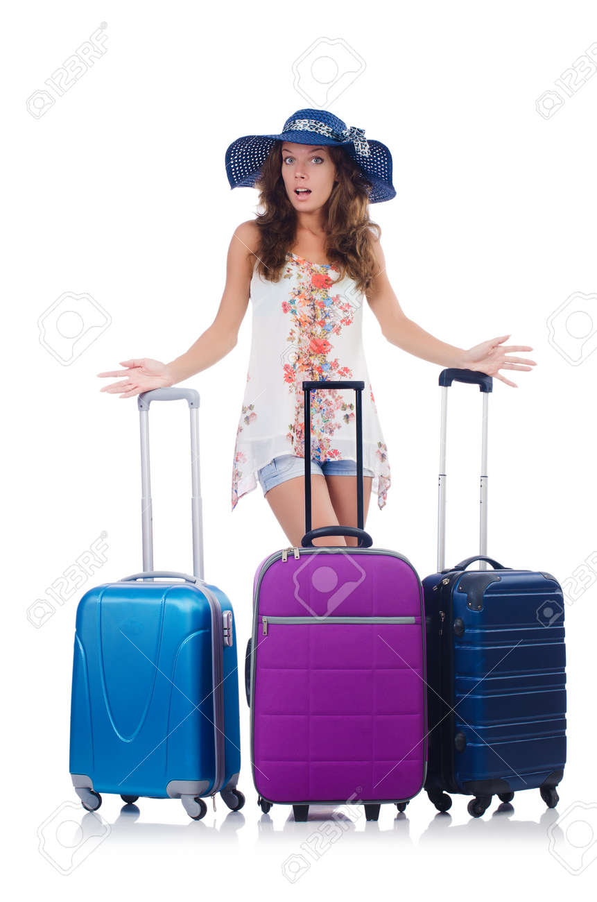 Woman preparing for travel on summer vacation Stock Photo - 22581048