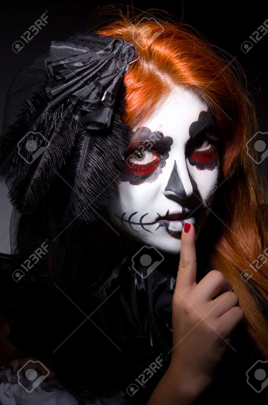 Woman satana in halloween concept Stock Photo - 22581292