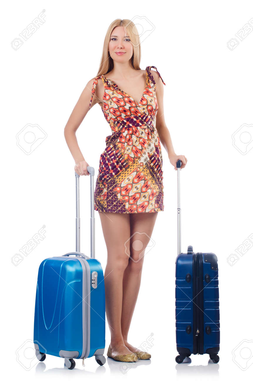 Woman preparing for travel on summer vacation Stock Photo - 22940226