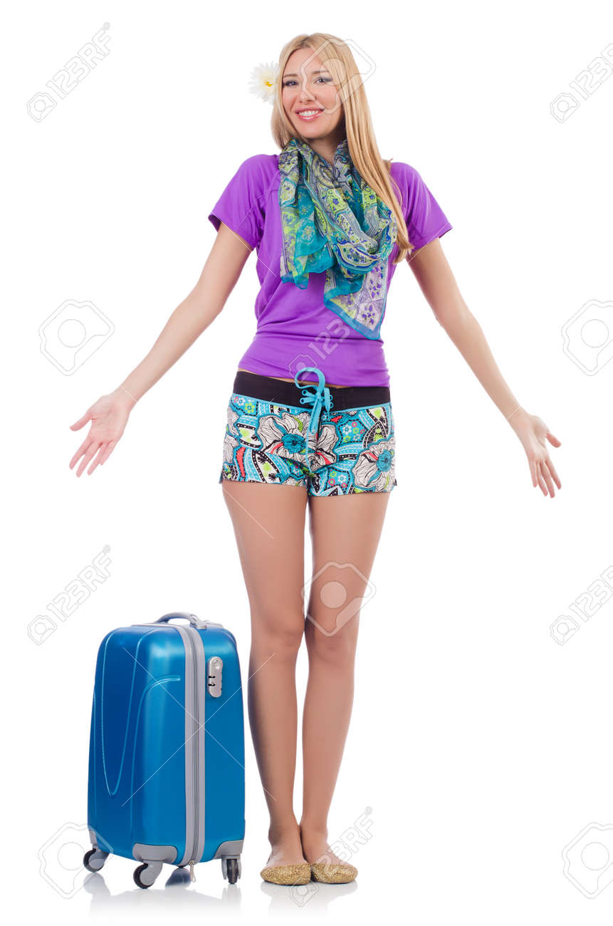 Woman preparing for travel on summer vacation Stock Photo - 22940230