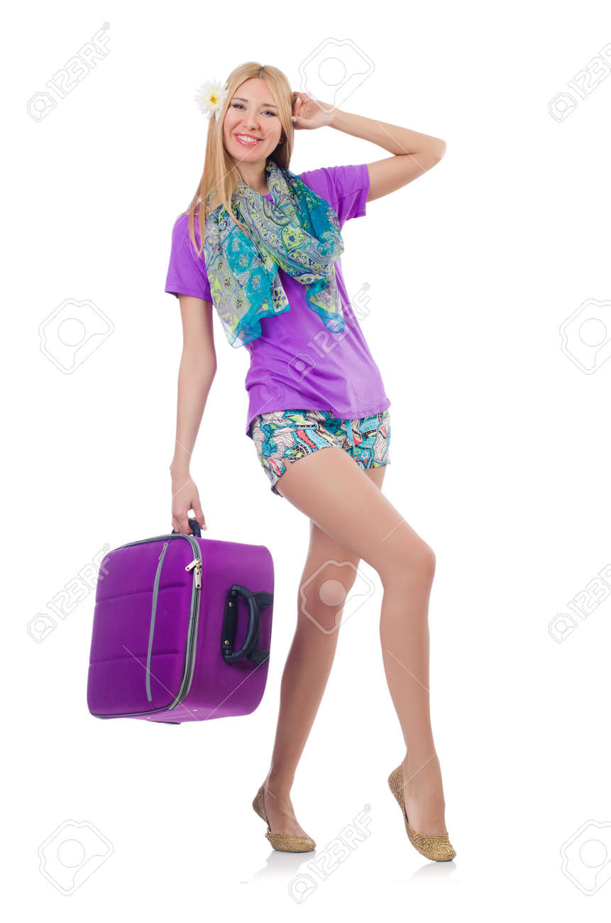 Woman preparing for travel on summer vacation Stock Photo - 23352149
