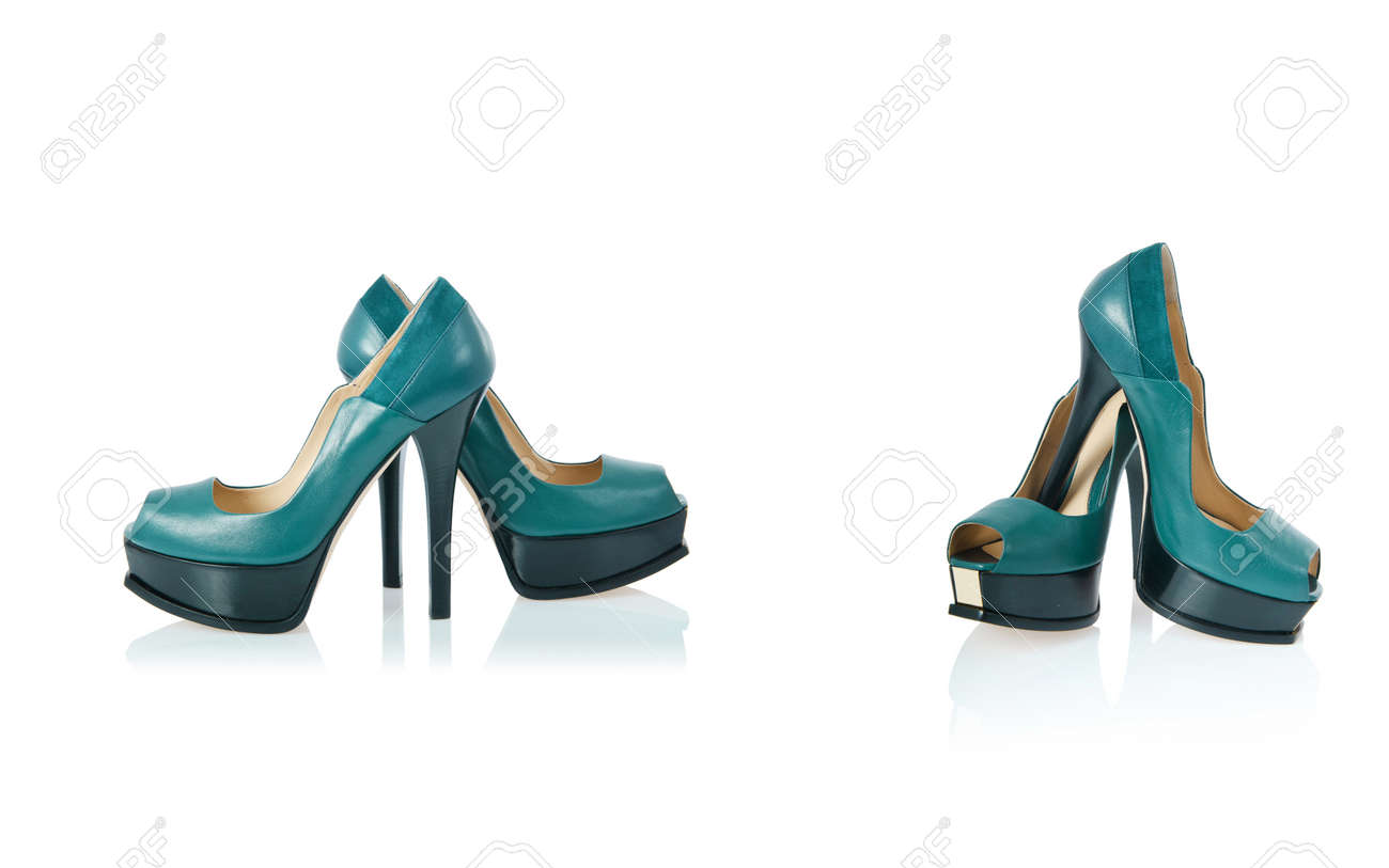 Composite photo of woman shoes isolated on white Stock Photo - 23226287