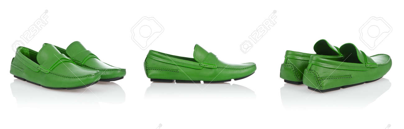 Male shoes isolated on the white Stock Photo - 23328407