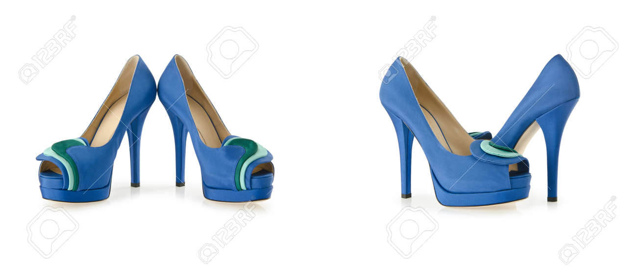 Composite photo of woman shoes isolated on white Stock Photo - 23510385