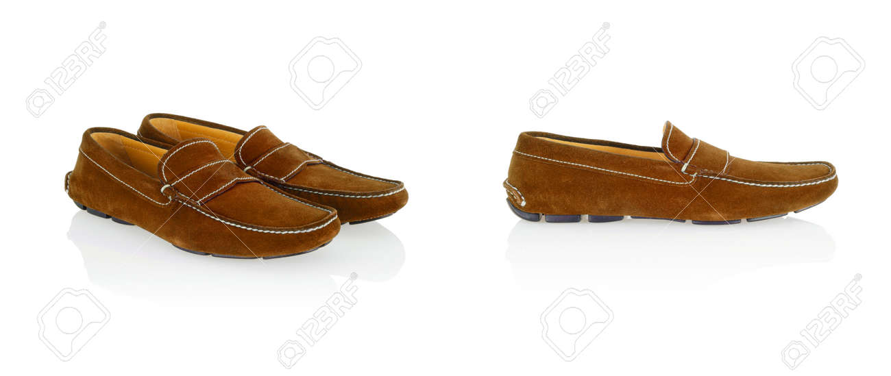 Male shoes isolated on the white background Stock Photo - 23826379