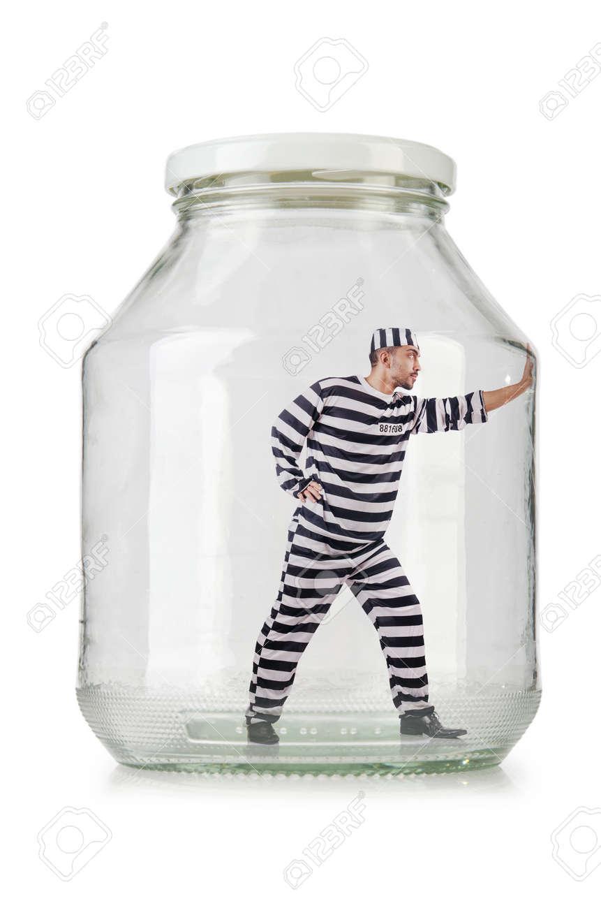 Glass empty jar isolated on white Stock Photo - 24079824