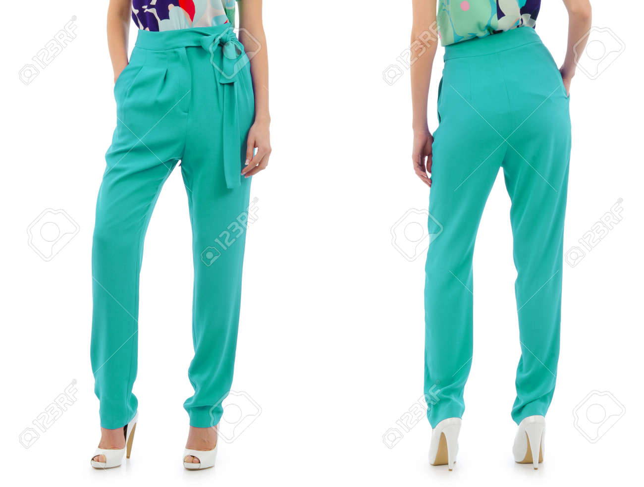 Trousers on the model isolated Stock Photo - 24114037
