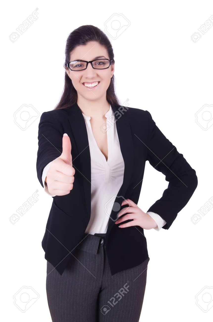Woman businesswoman isolated on white Stock Photo - 29136755