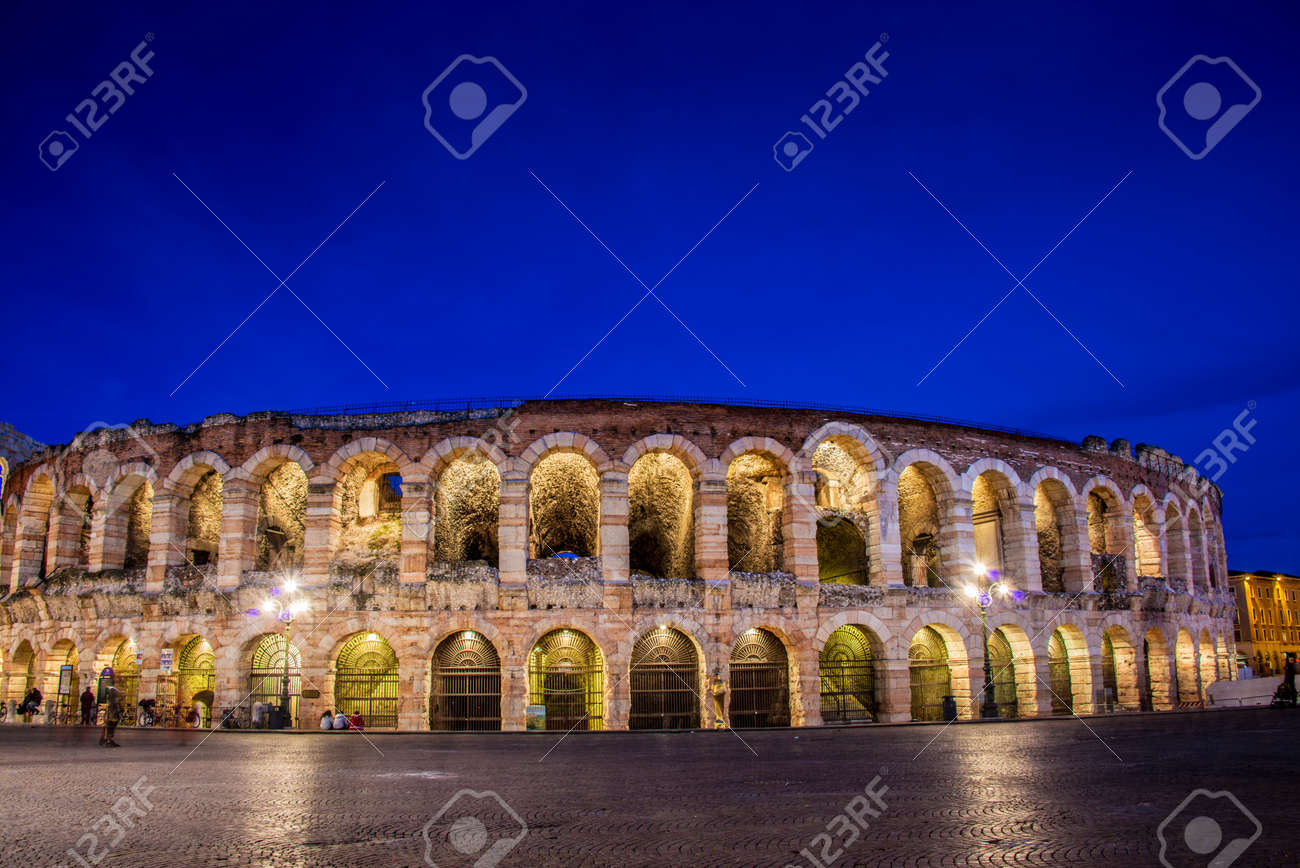 Verona theater during evening hour Stock Photo - 28930188