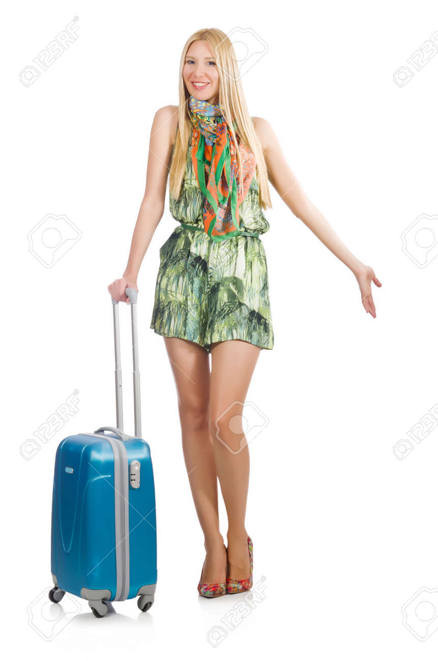 Young woman preparing for summer vacation Stock Photo - 29996840