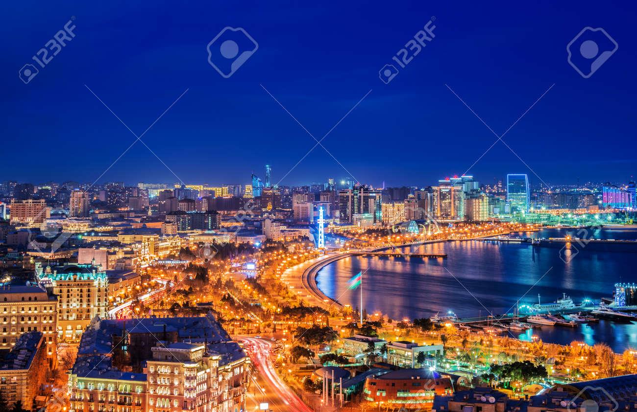 Night view of Baku, Azerbaijan Stock Photo - 33993553