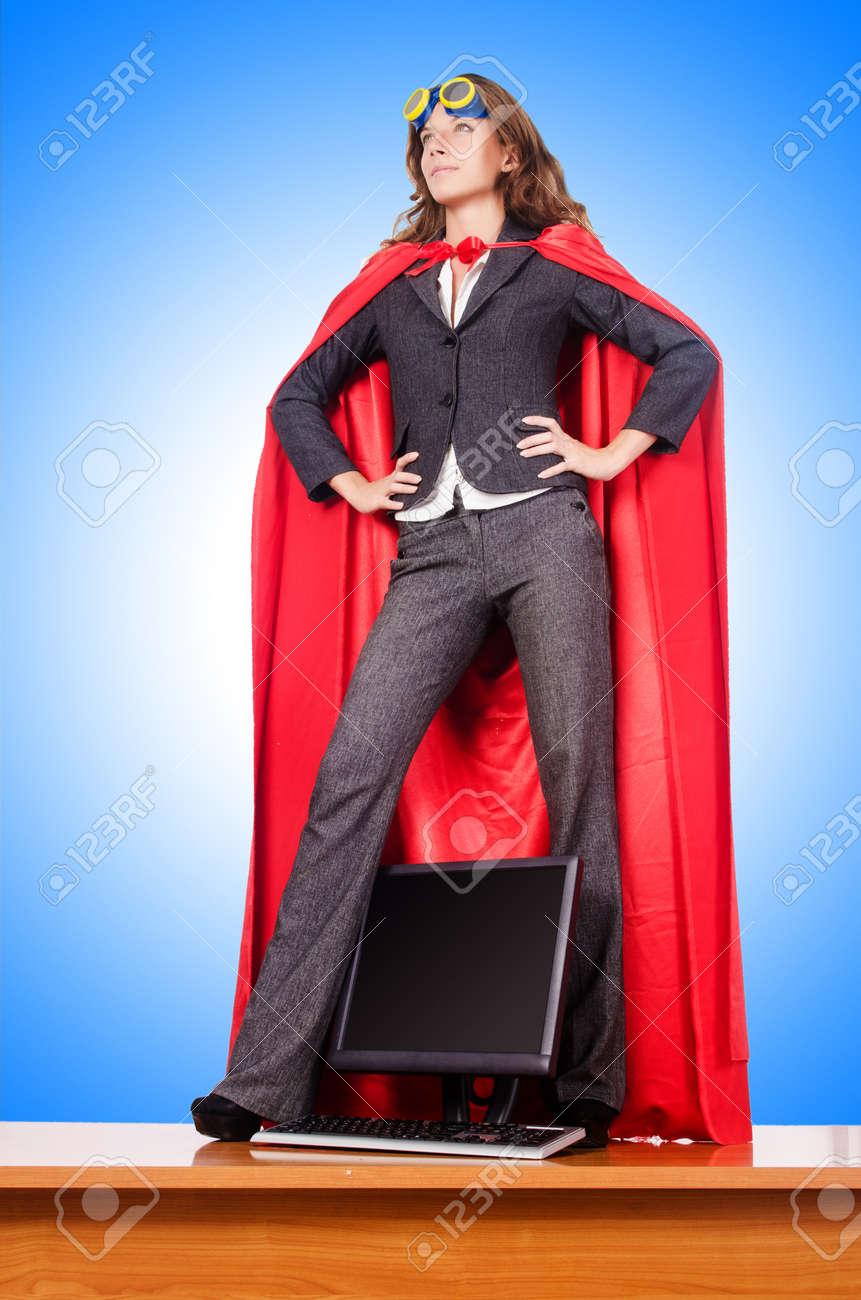 Businesswoman in superwoman concept Stock Photo - 37466802
