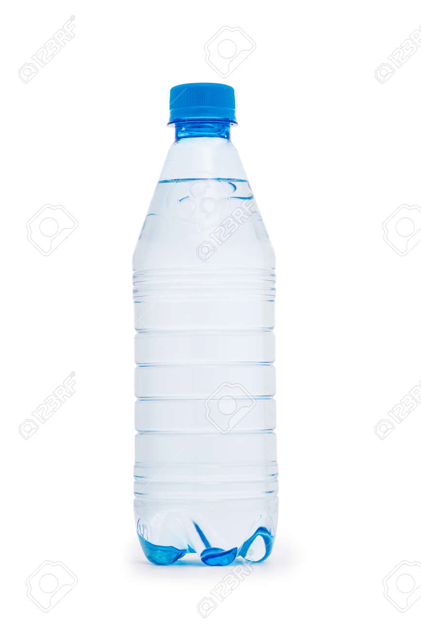 Water bottle isolated on the white Stock Photo - 40645820