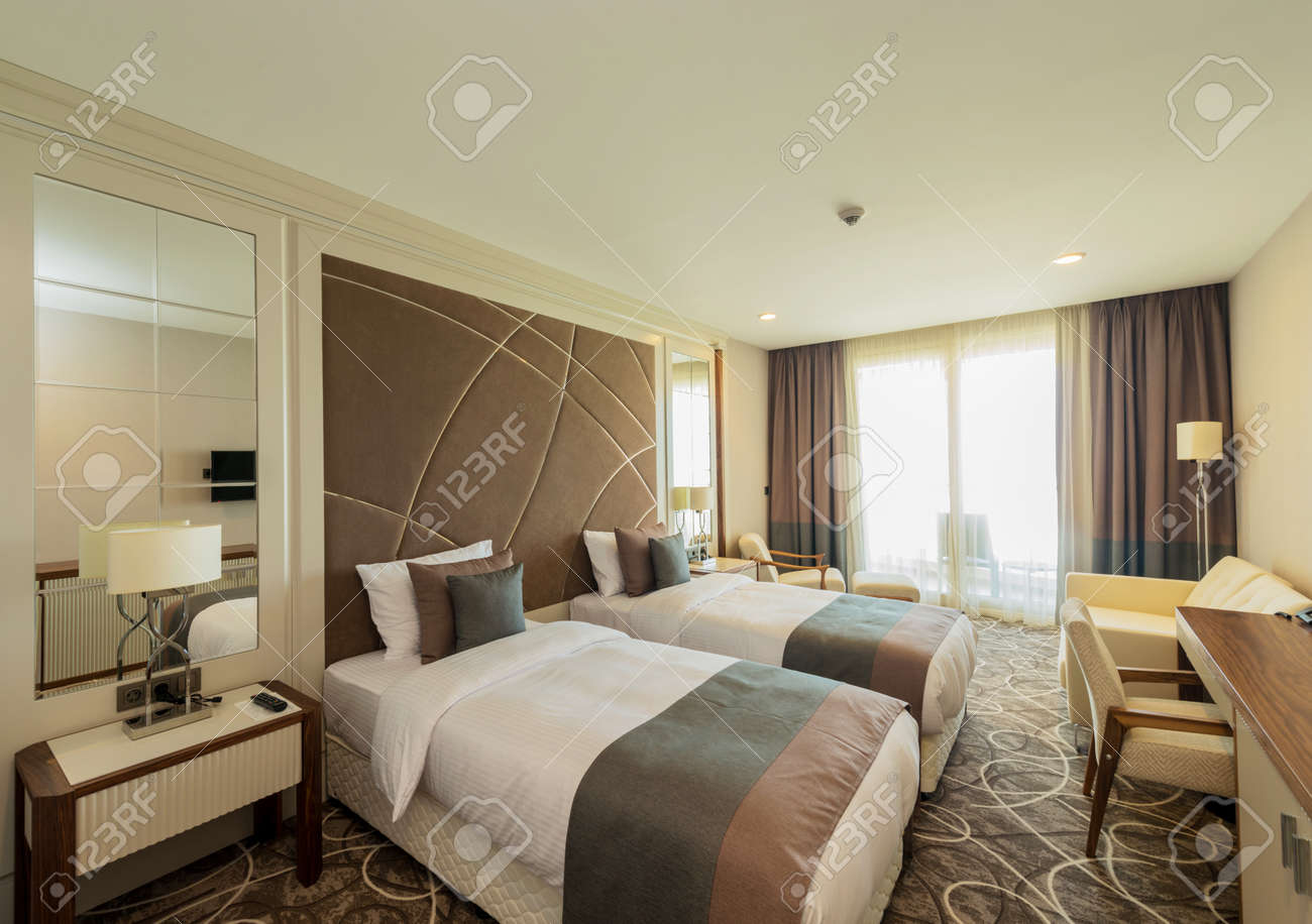 Hotel room with modern interior Stock Photo - 42628641