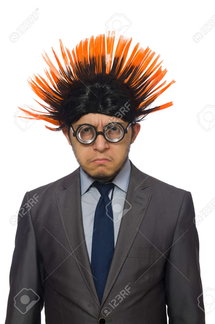 Funny Man With Mohawk Hairstyle Stock Photo Picture And Royalty