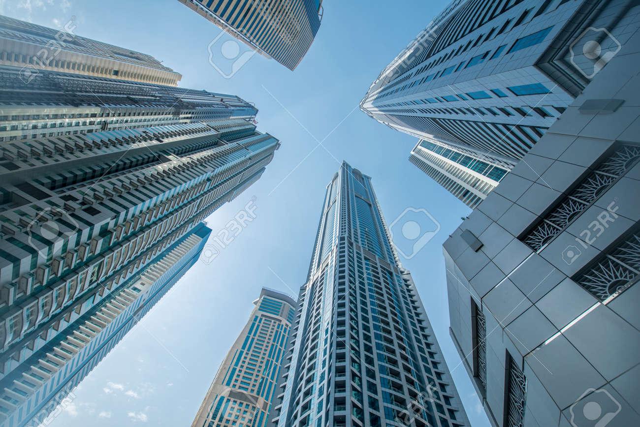 Tall Dubai Marina skyscrapers in UAE Stock Photo - 47741825