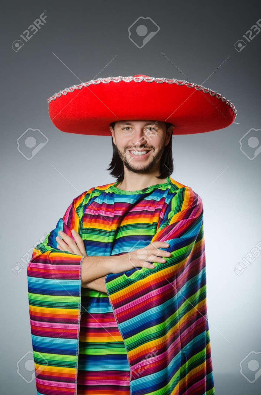 Funny mexican wearing sombrero hat Stock Photo - 52989562 baadfbc47e6